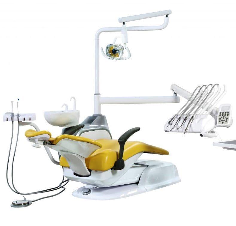 стоматологическая установка Ajax AJ11 верхняя жёлтая